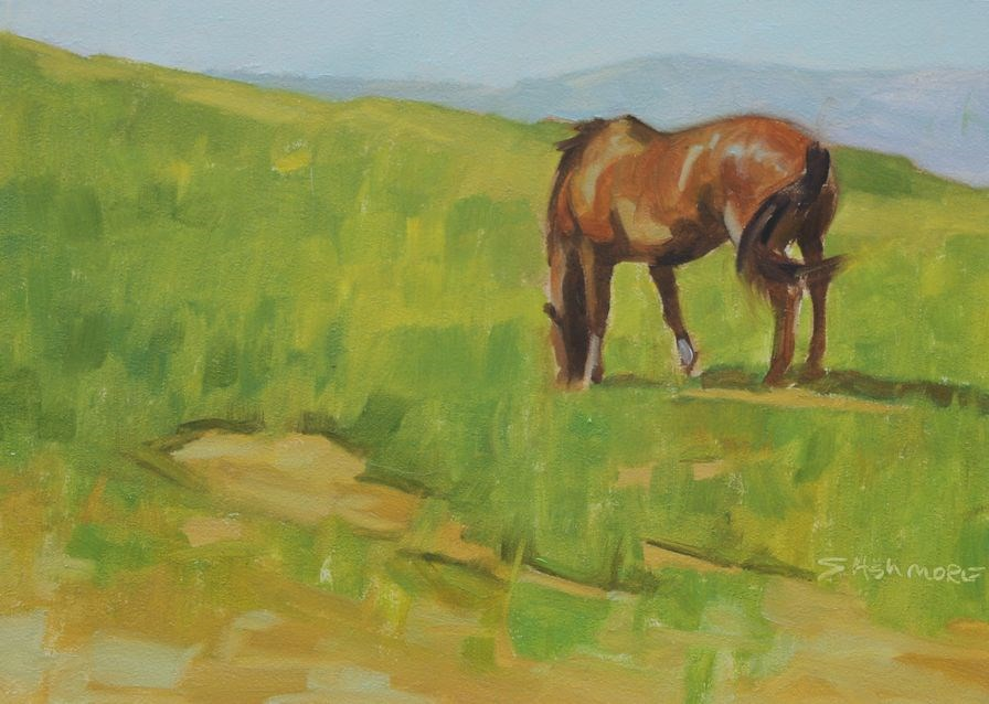 """Grazing"" original fine art by Susan Ashmore"