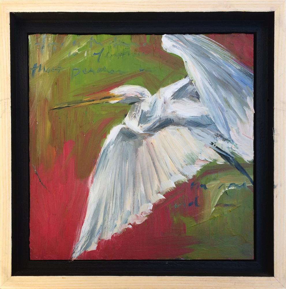 """With Feathers"" original fine art by Denise Hopkins"