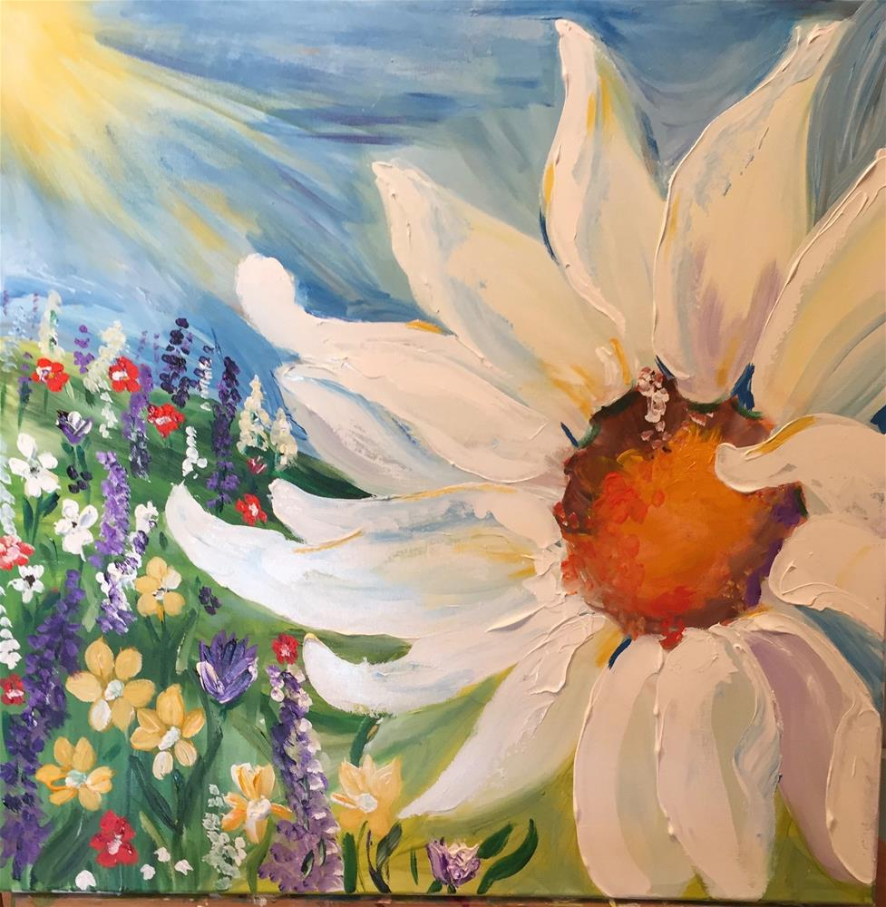 """One Daisy Will Do"" original fine art by Yvonne Snead"