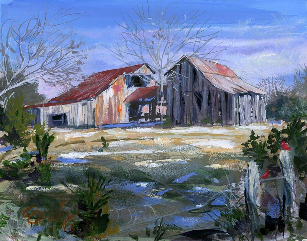 """Wilson County Barn"" original fine art by Chris Ousley"