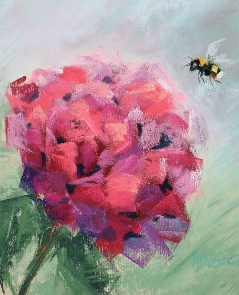 """Buzz"" original fine art by Michelle Wells Grant"