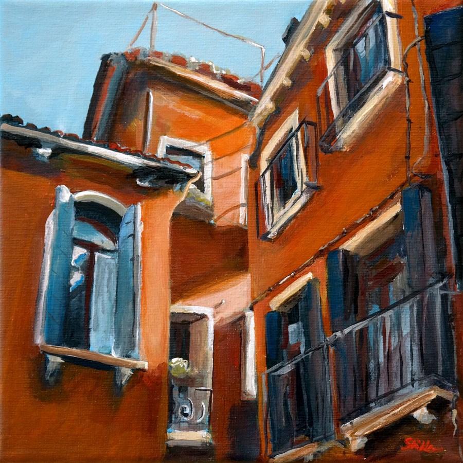 """1385 Venetian Corners"" original fine art by Dietmar Stiller"