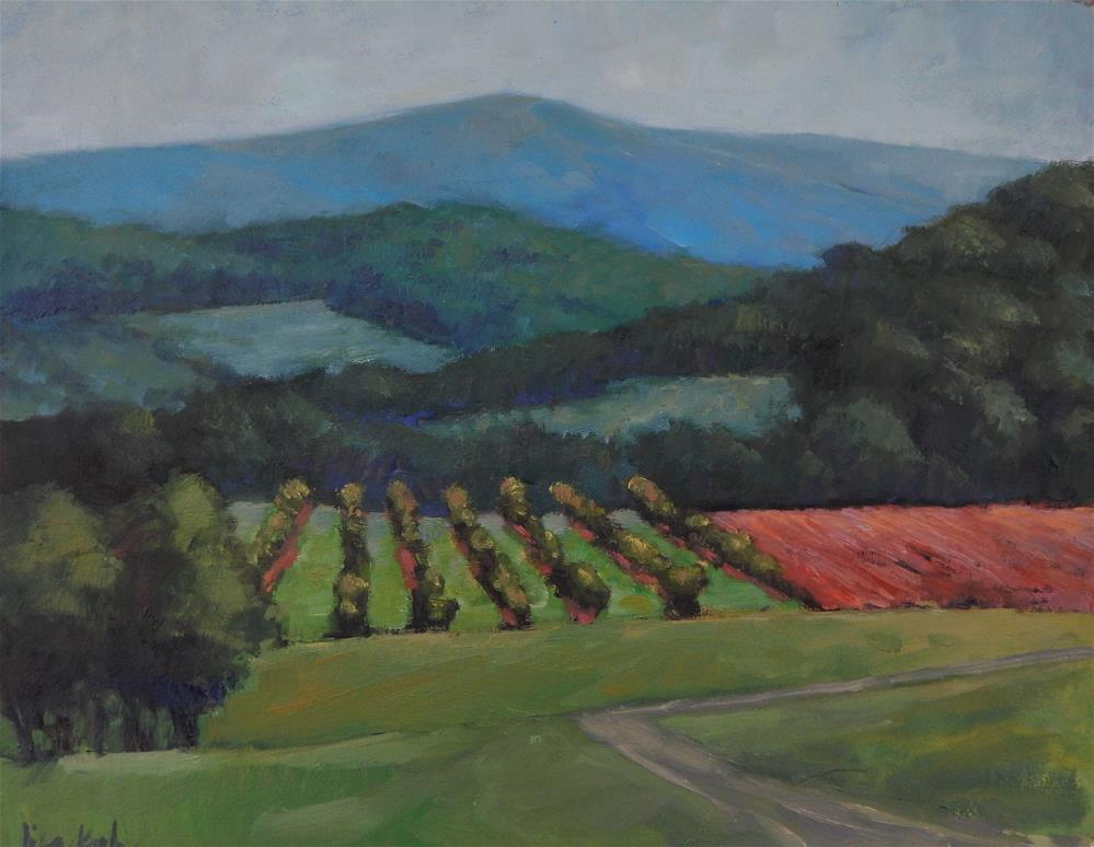 """Vineyard View"" original fine art by Lisa Kyle"