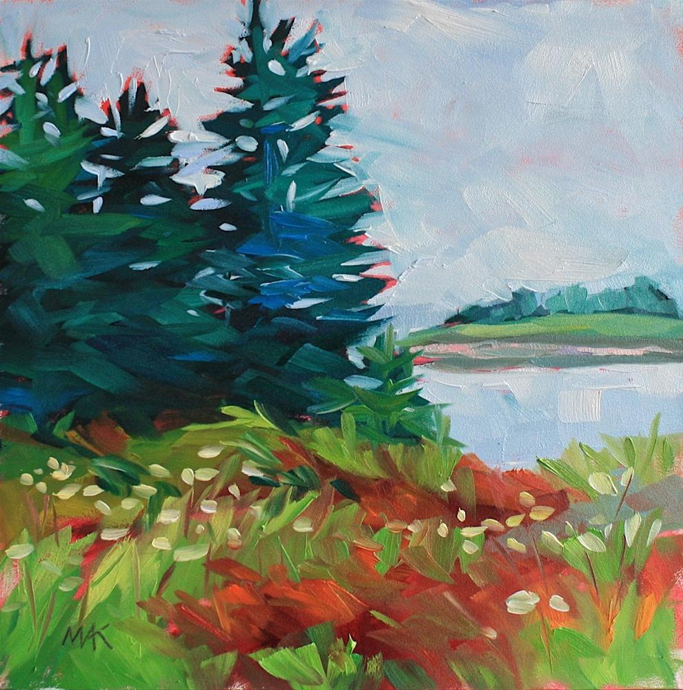 """Island Pines"" original fine art by Mary Anne Cary"