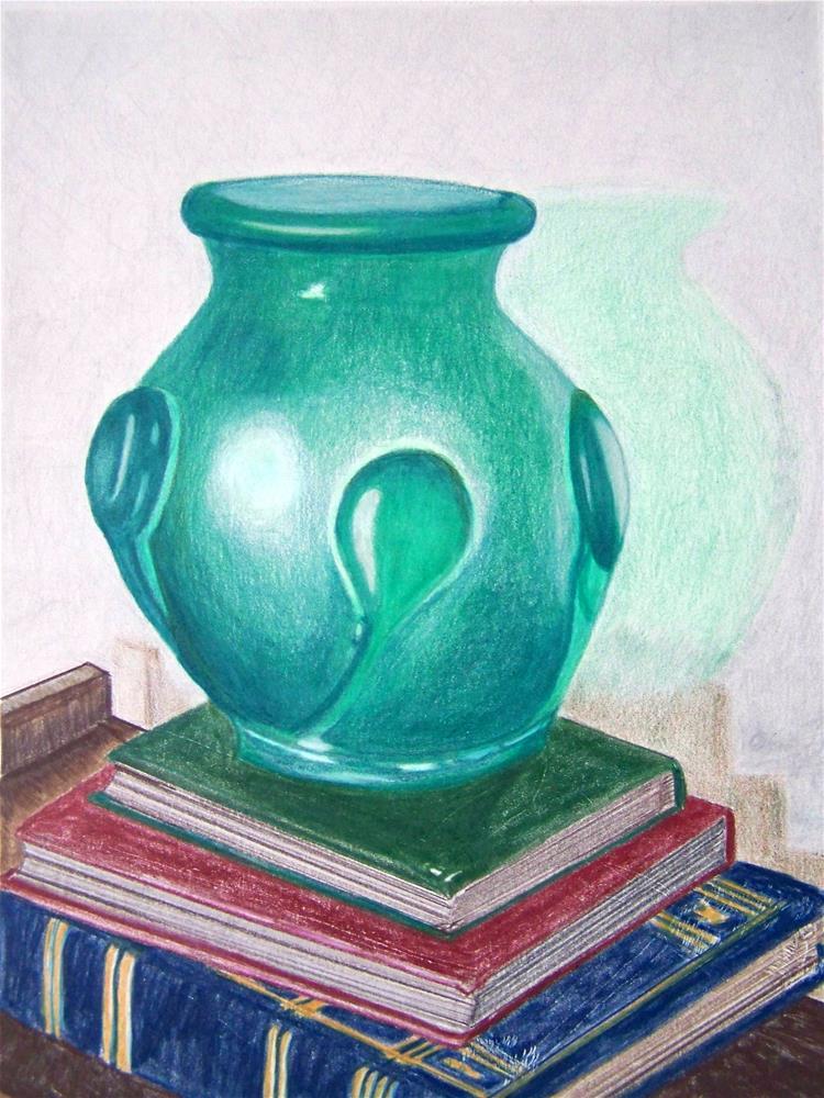 """The Green Vase"" original fine art by Elaine Shortall"