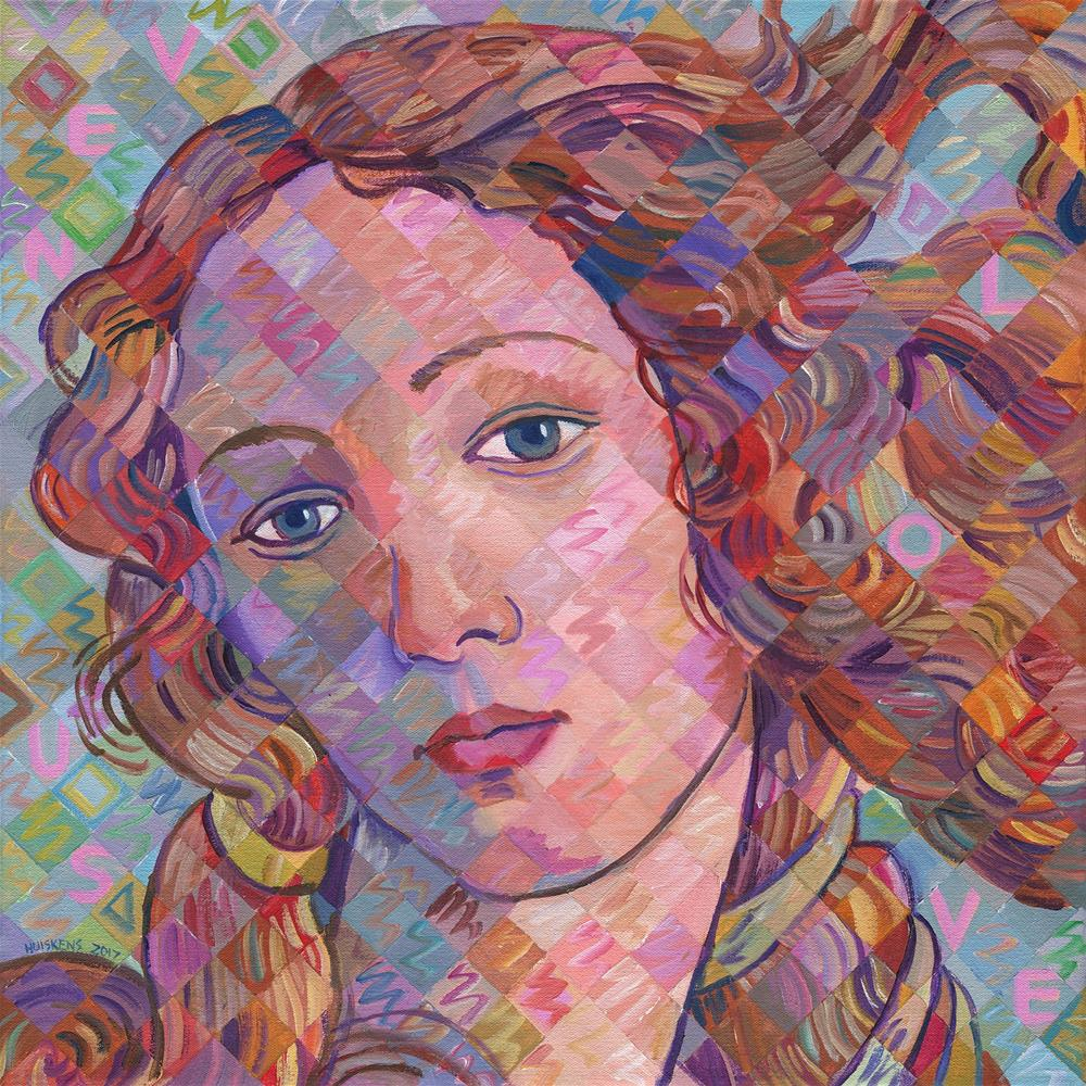 """Variations On Botticelli's Venus – No. 5"" original fine art by Randal Huiskens"