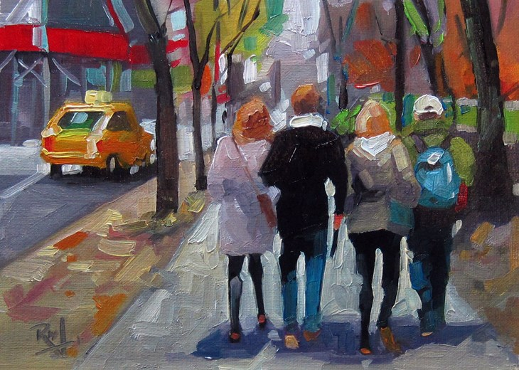 """No767_5ThAveCentralPark"" original fine art by Robin J Mitchell"