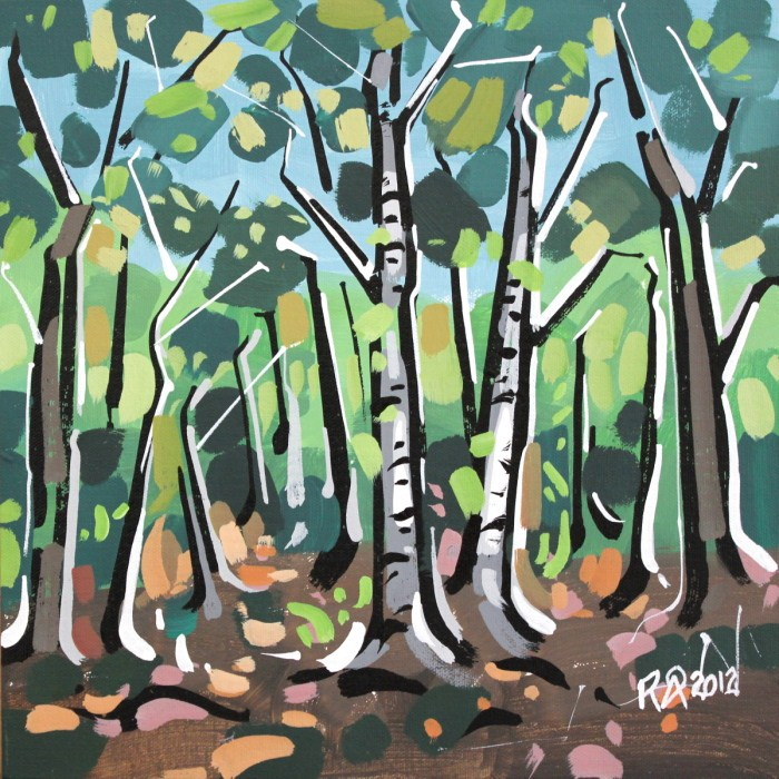 """In the forest 5"" original fine art by Roger Akesson"