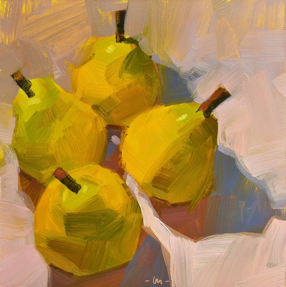 """Four Pear 3"" original fine art by Carol Marine"