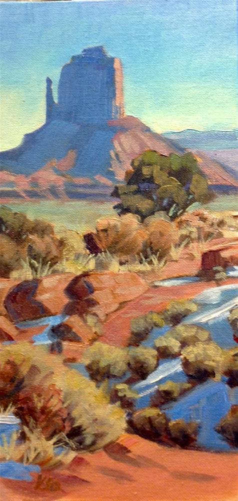 """Distant Mitten (The West Mitten, Monument Valley)"" original fine art by Valerie Orlemann"