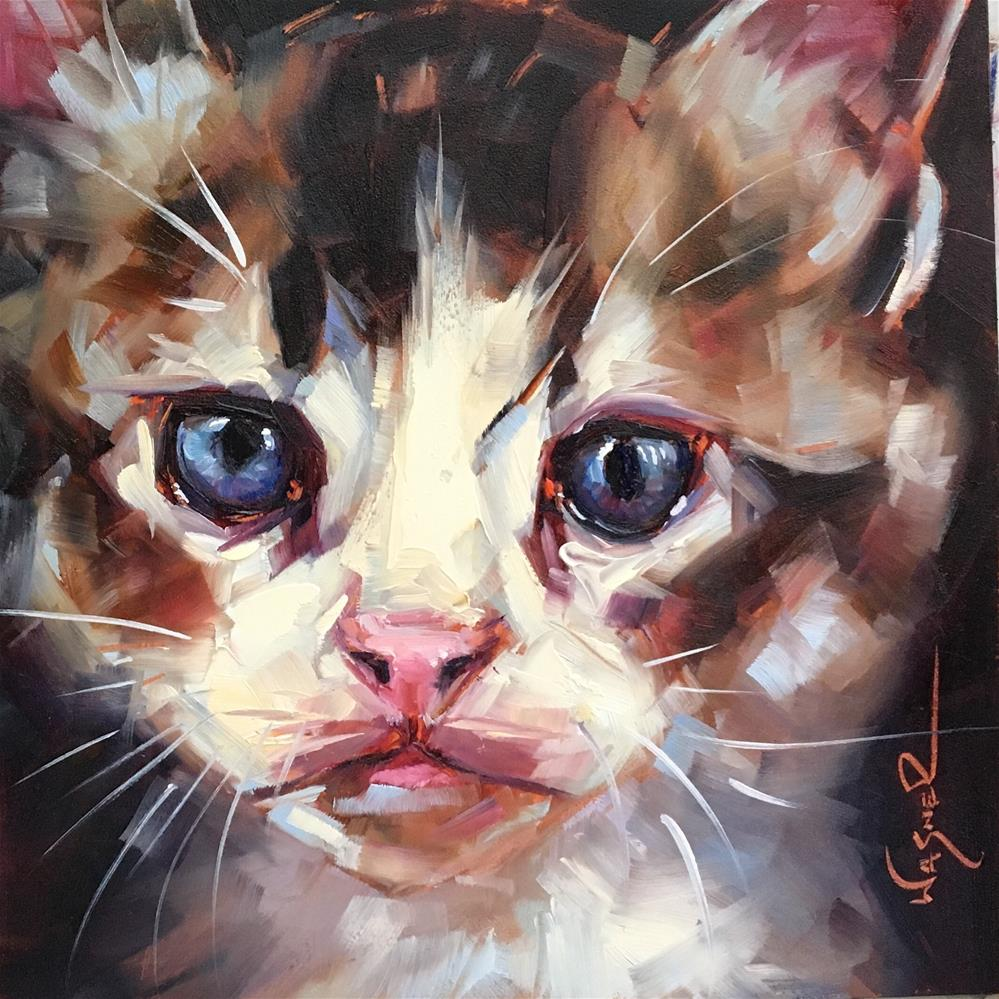 """Dear Kitten"" original fine art by Olga Wagner"