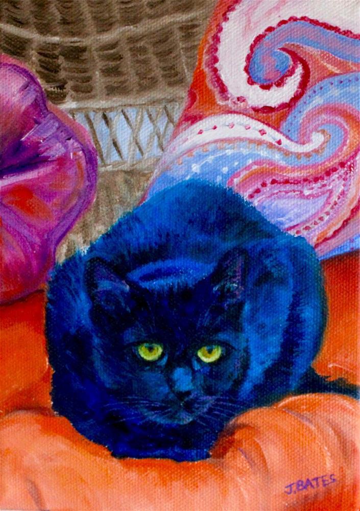 """Bean"" original fine art by Jill Bates"