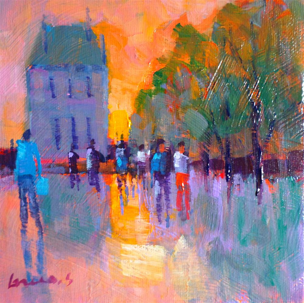"""TUILERIES GARDENS IN PARIS"" original fine art by salvatore greco"