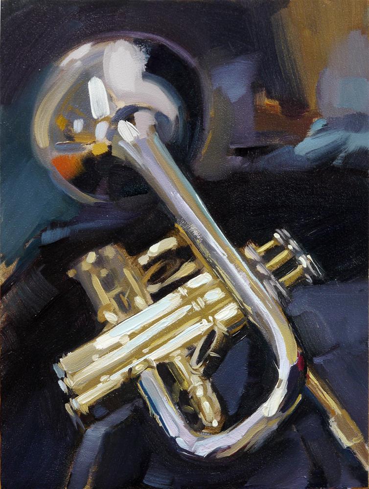 """trumpet_3"" original fine art by Beata Musial-Tomaszewska"
