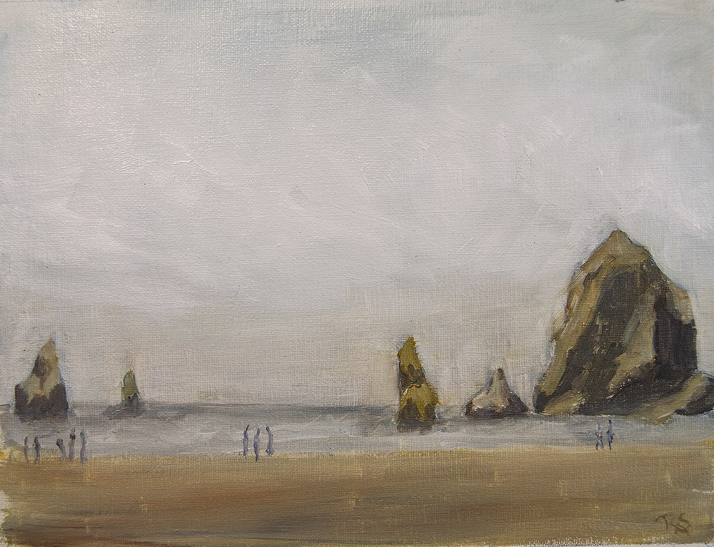 """Haystack near Cannon Beach"" original fine art by Rachel Steely"
