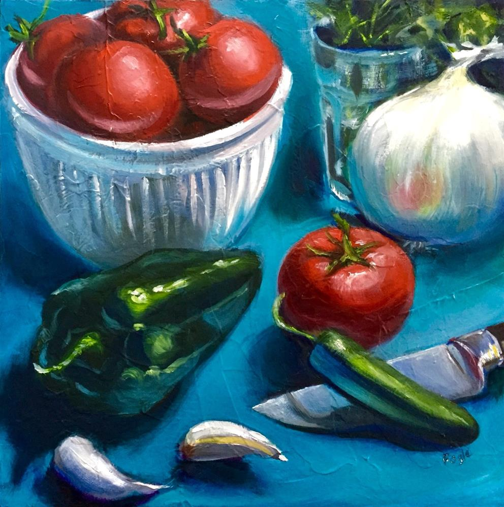 """Spicy Salsa"" original fine art by Rachel Fogle"