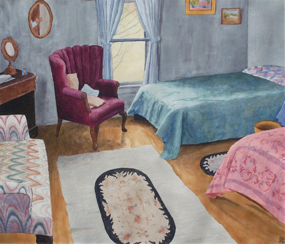 """Guest Bedroom"" original fine art by Greg Arens"