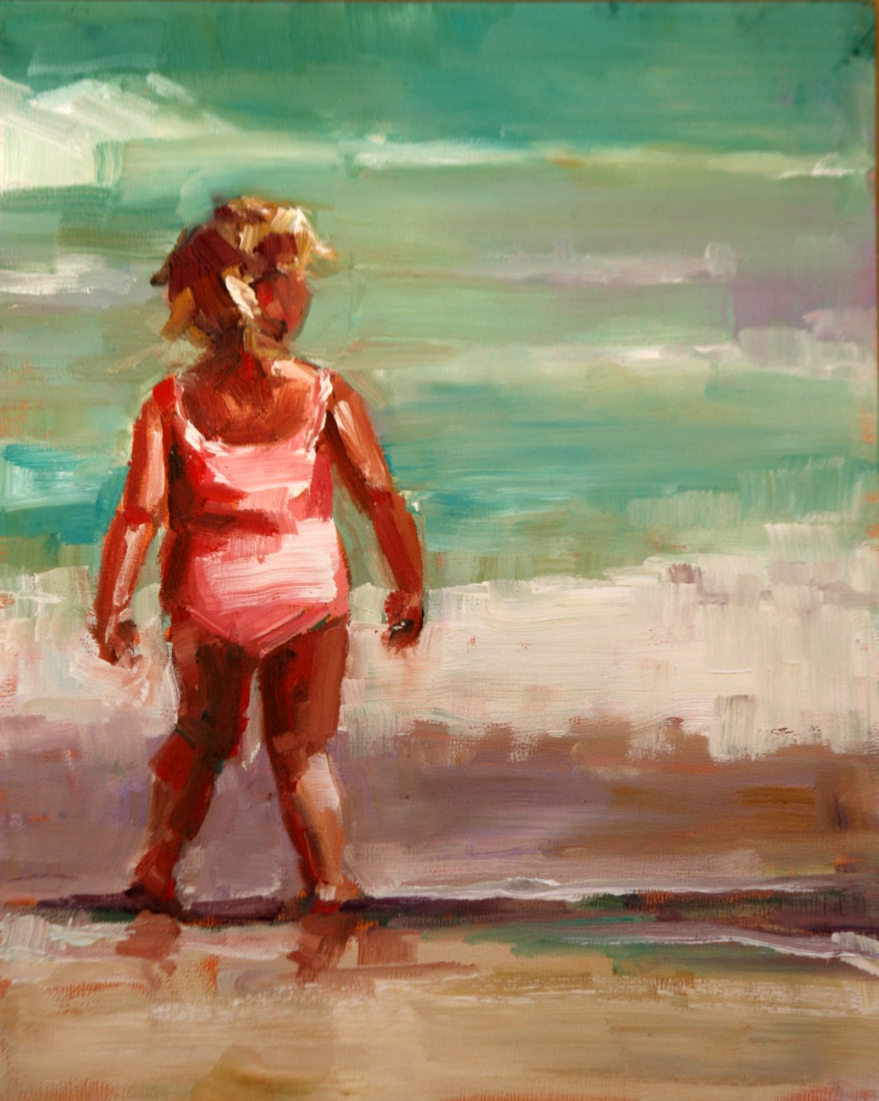 """bathing beauty"" original fine art by Carol Carmichael"