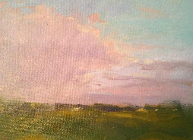 """Evening Clouds"" original fine art by Fine Art of René"
