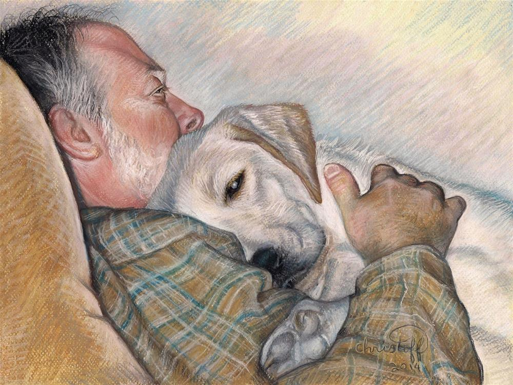 """Al and Maggie 12 x 16 Pastel, NFS"" original fine art by emily Christoff-Flowers"