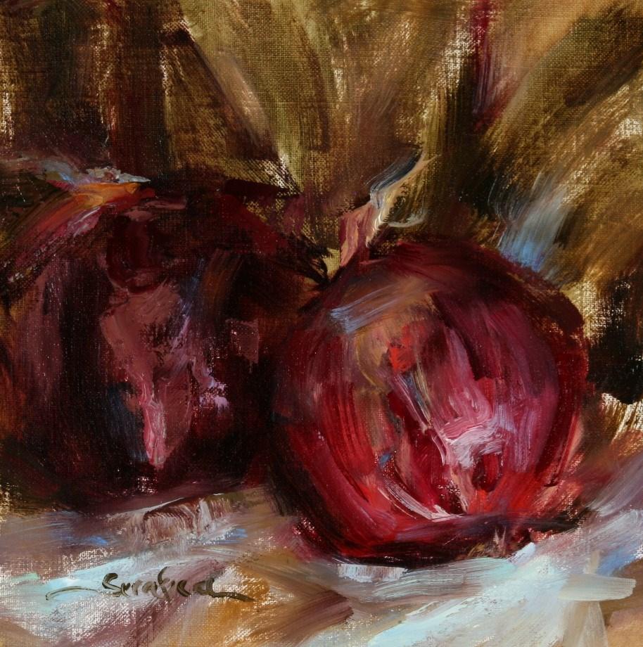 """Red Onions"" original fine art by Scott Serafica"