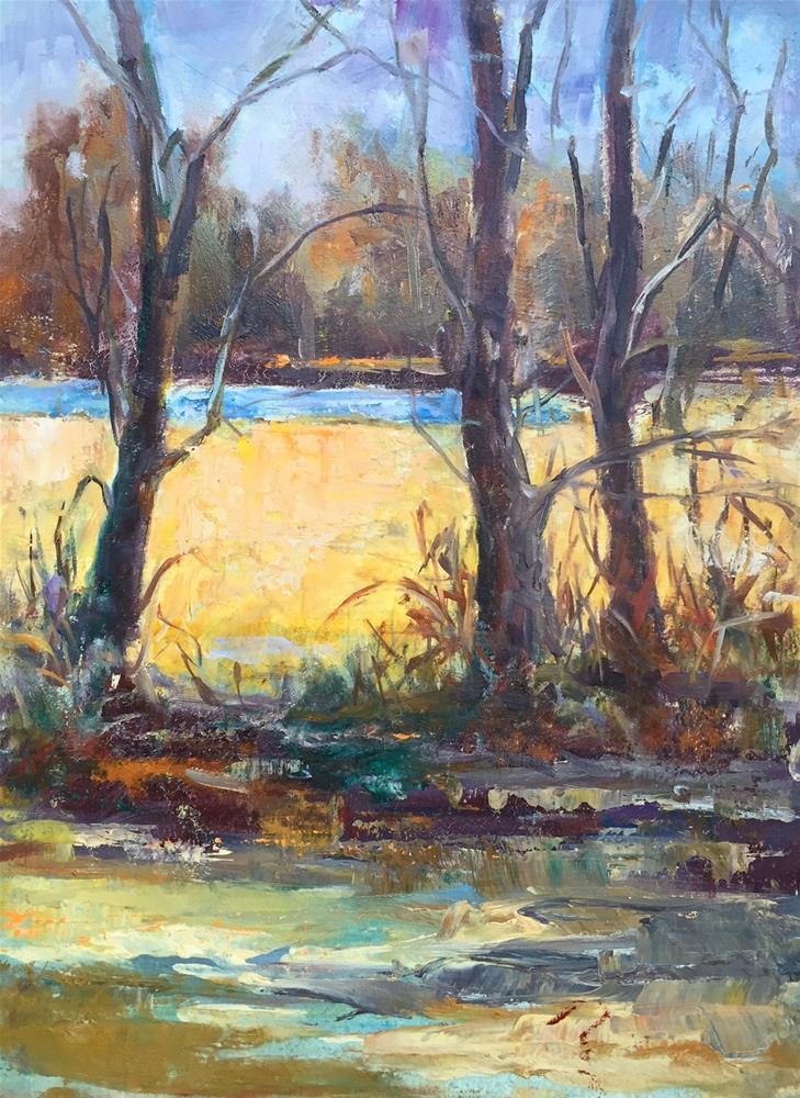 """Study of Sage Grass i"" original fine art by Glenda Shaw Brown"