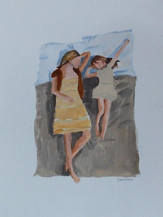"""""""Pillow Talk"""" original fine art by Pamela Munger"""