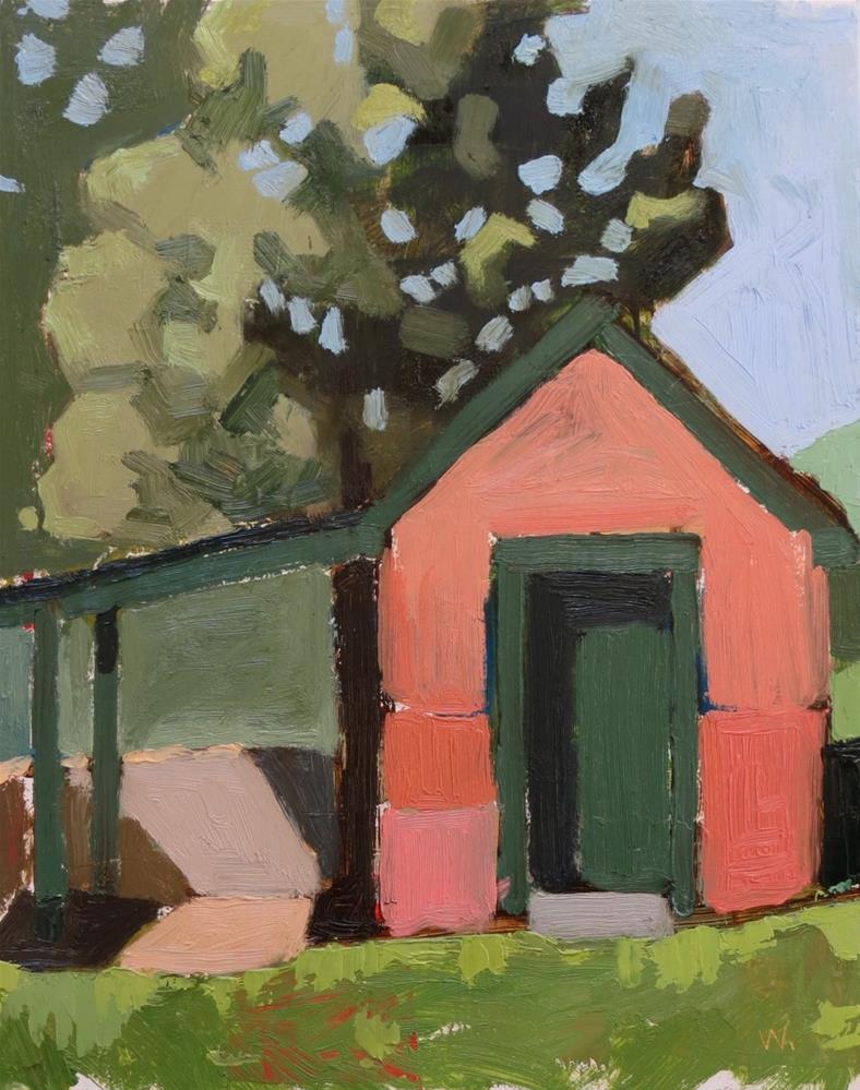 """Snowden Smokehouse"" original fine art by Joan Wiberg"