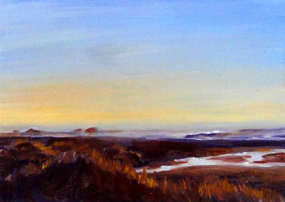 """Evening Serenity"" original fine art by Cietha Wilson"
