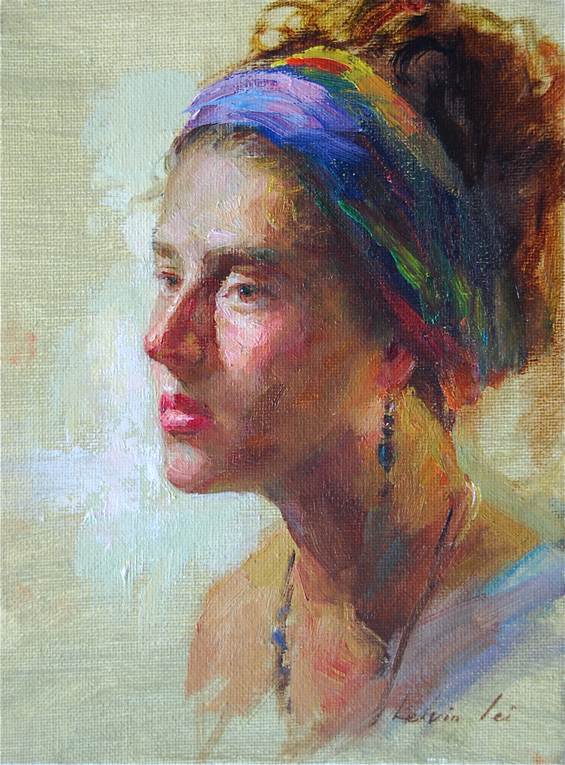 """Portrait Study No.3"" original fine art by Kelvin Lei"