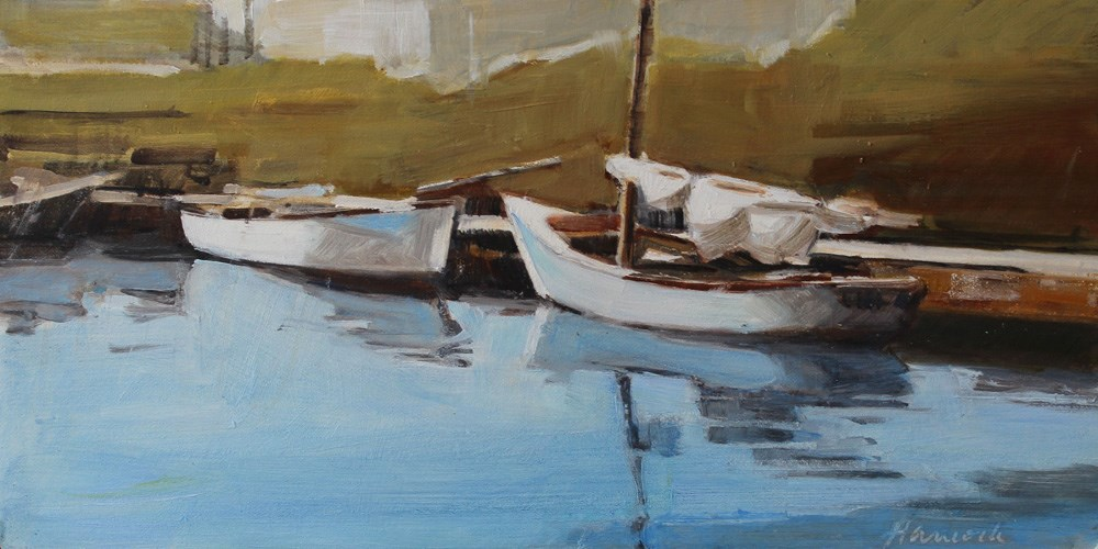 """Wooden Boats"" original fine art by Gretchen Hancock"
