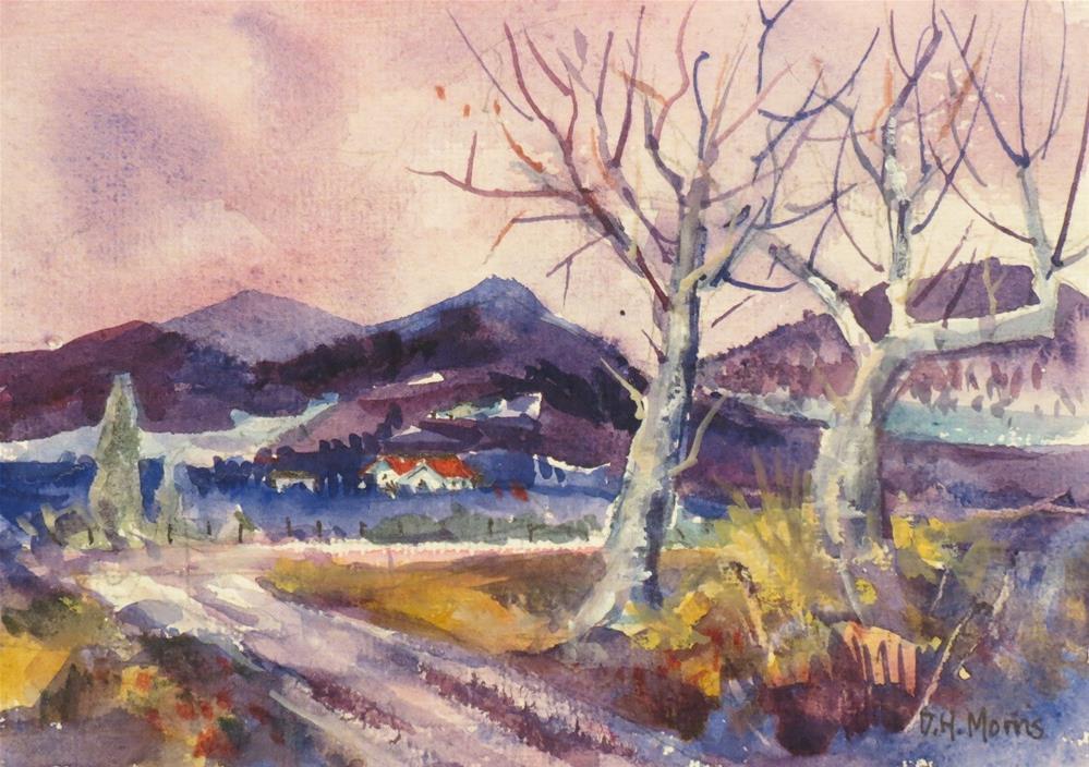 """Lilac Sky"" original fine art by Dann Morris"