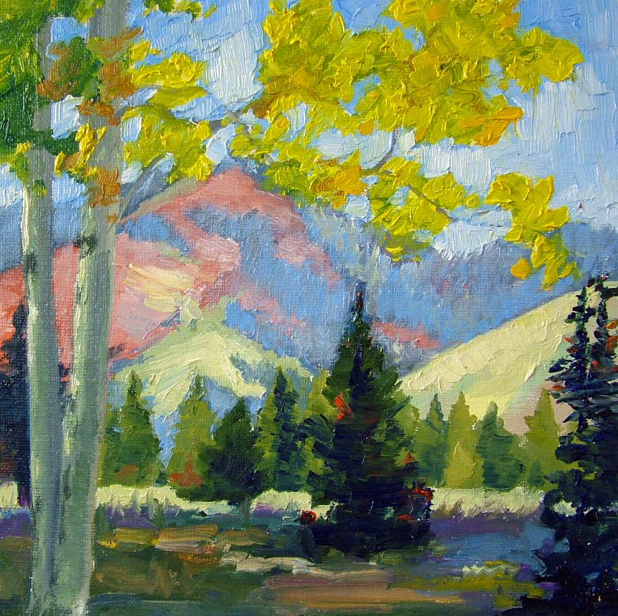 """Yellow Aspens"" original fine art by Nancy Paris Pruden"