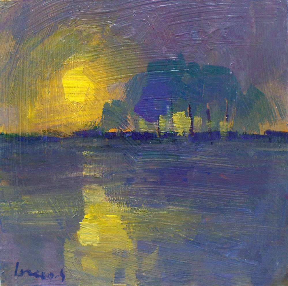 """Sun on the pond"" original fine art by salvatore greco"