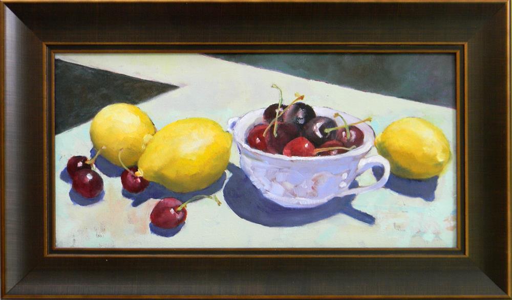 """Lemony Bowl of Cherries"" original fine art by De Selby"