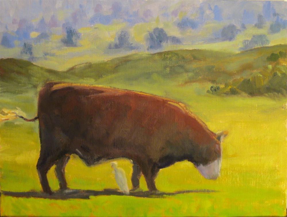 """""""Mauka Mooo"""" original fine art by Leigh Alexandra Sparks"""