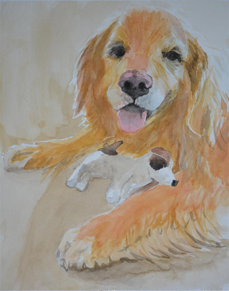 """Clover and Sport"" original fine art by Cindy McDonough"