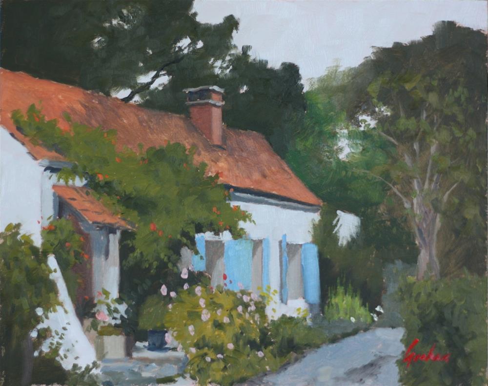 """""""Blue shutters"""" original fine art by Graham Townsend"""