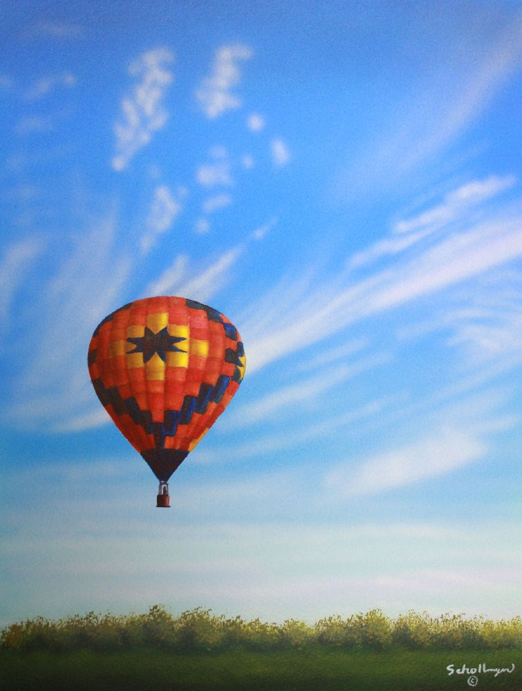"""Up"" original fine art by Fred Schollmeyer"