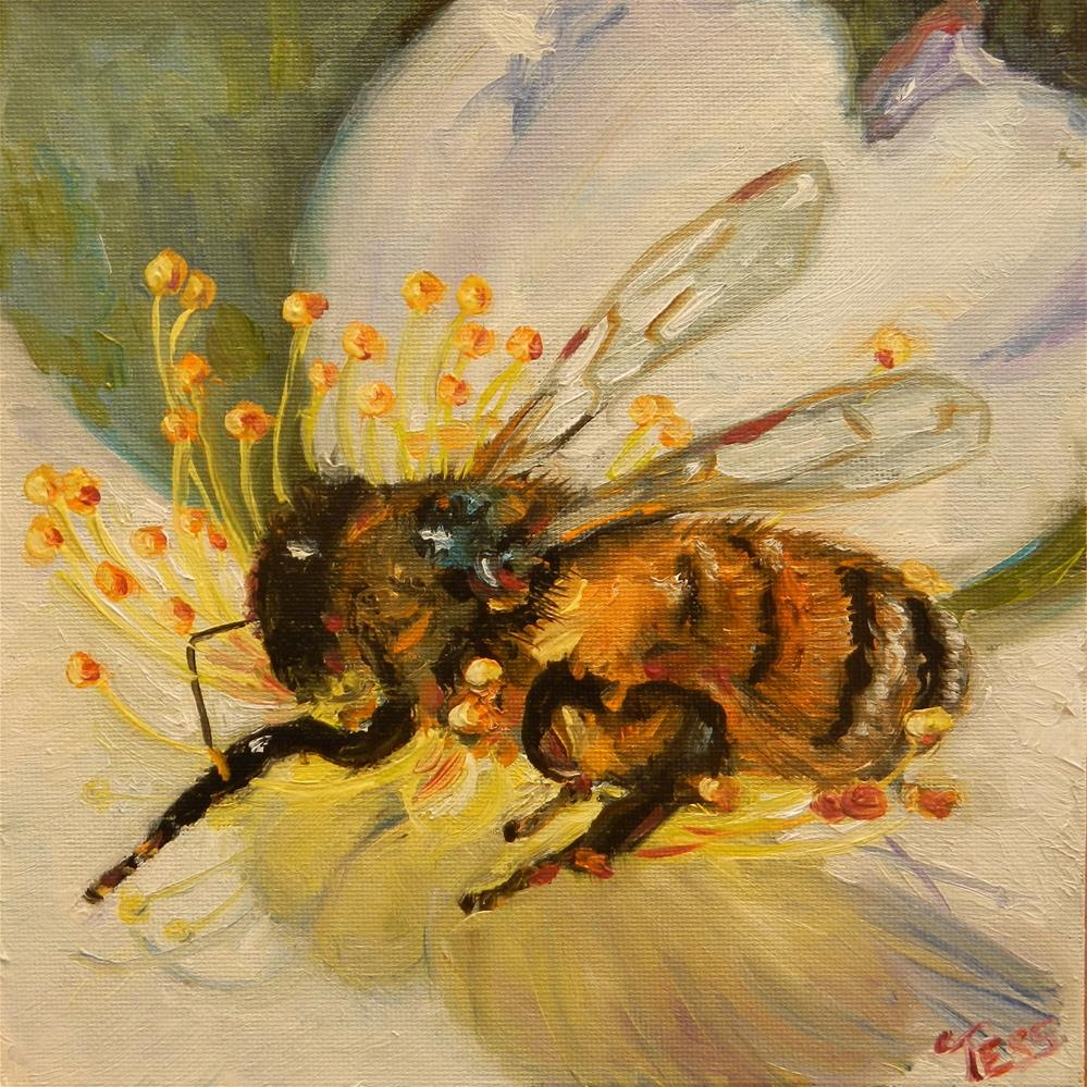 """Bee Challenge"" original fine art by Tess Lehman"