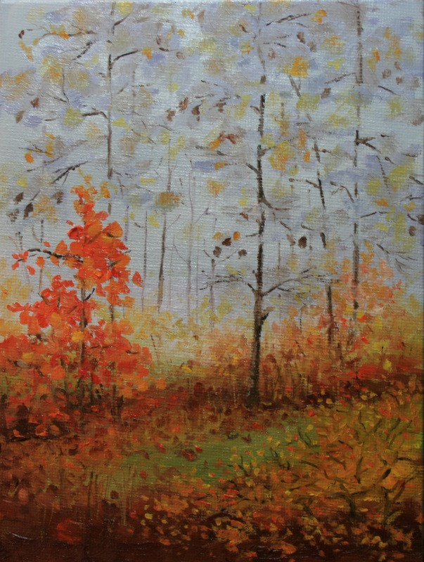 """Autumn Mist 2"" original fine art by Jean Nelson"