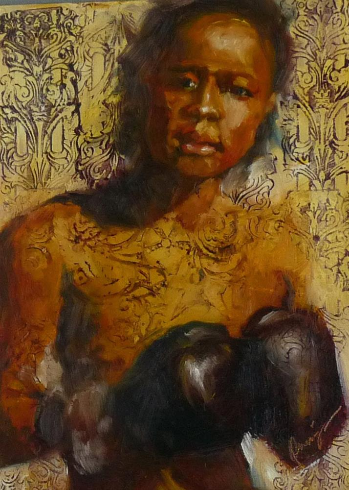 """Script"" original fine art by Sharman Owings"