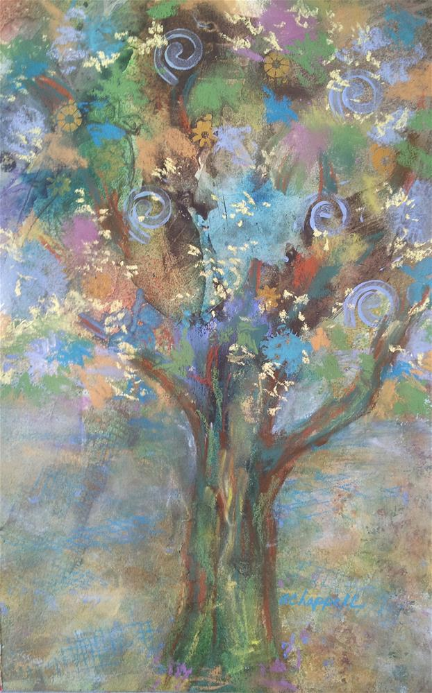 """Whimsy Tree"" original fine art by Becky Chappell"