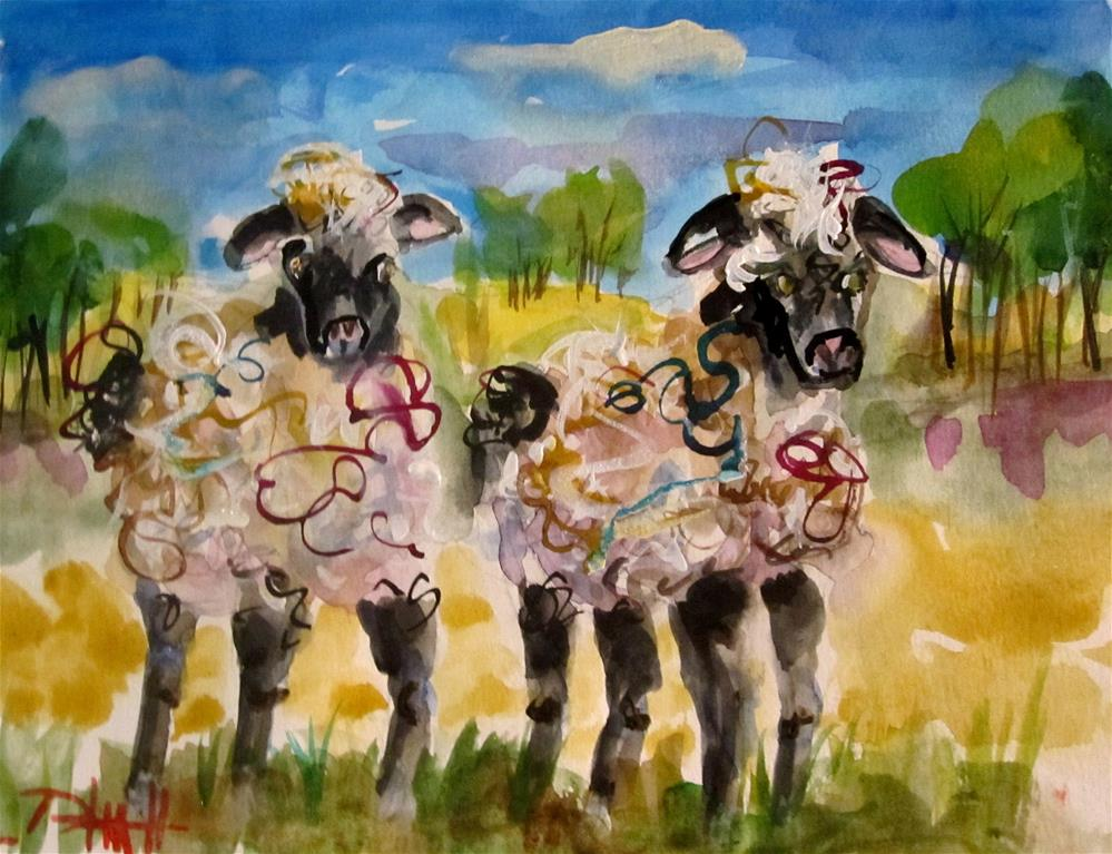 """Sheep"" original fine art by Delilah Smith"