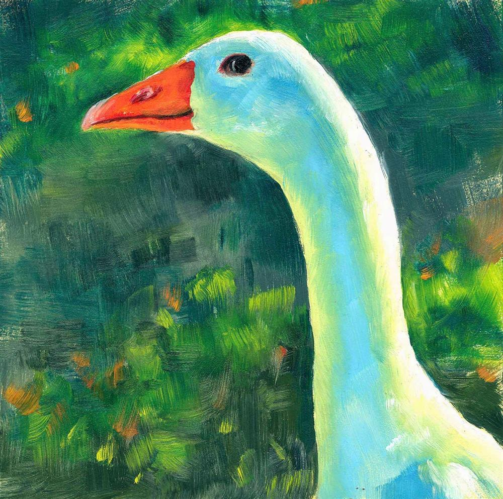 """Blue Goose"" original fine art by Brenda Ferguson"