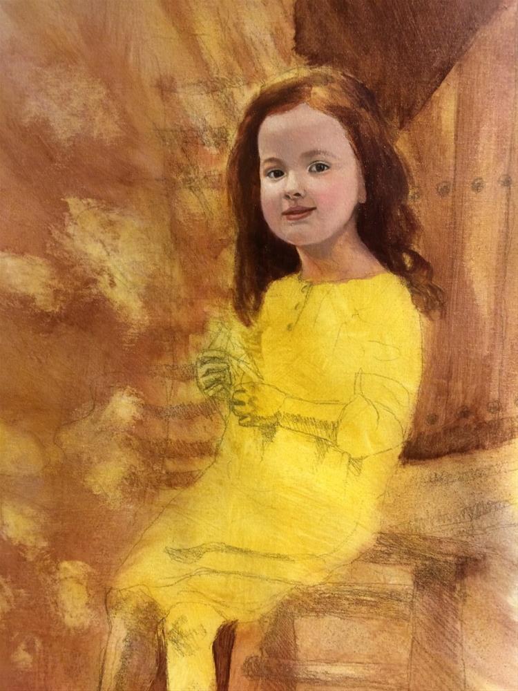 """""""Oil portrait painting commission-work in progress"""" original fine art by Paulo Jimenez"""