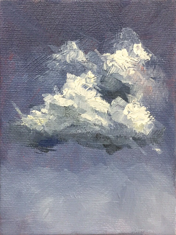 """Clouds 1"" original fine art by Elizabeth Dawn Johnston"