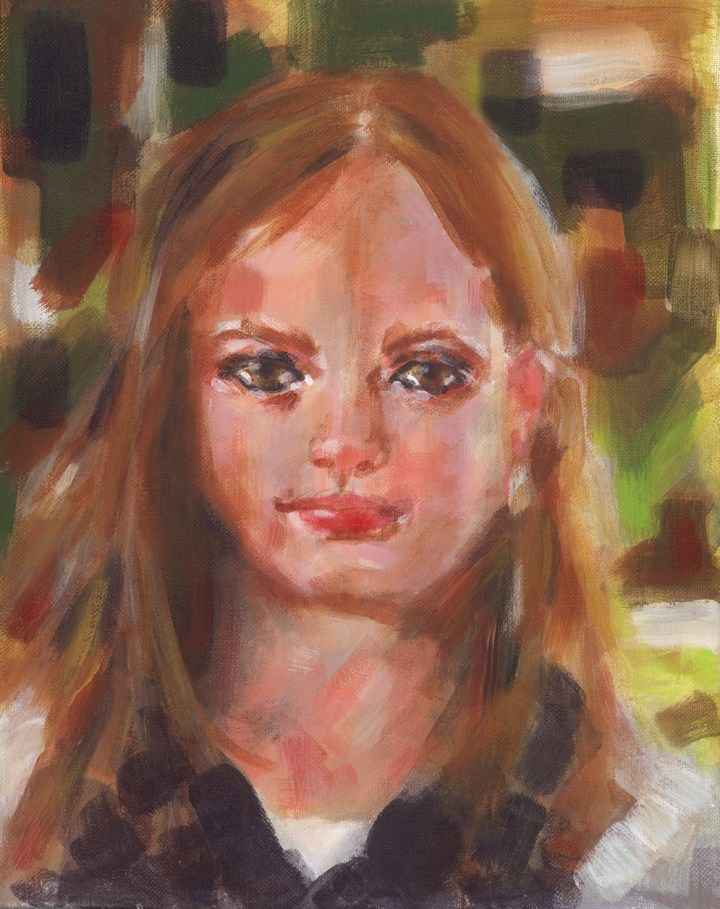 Study of Young Girl original fine art by Pamela Gatens