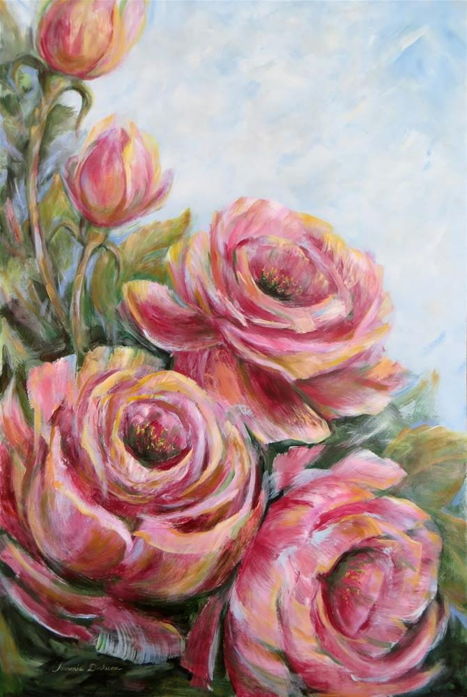 """Rose Rhapsody en Grande"" original fine art by Tammie Dickerson"
