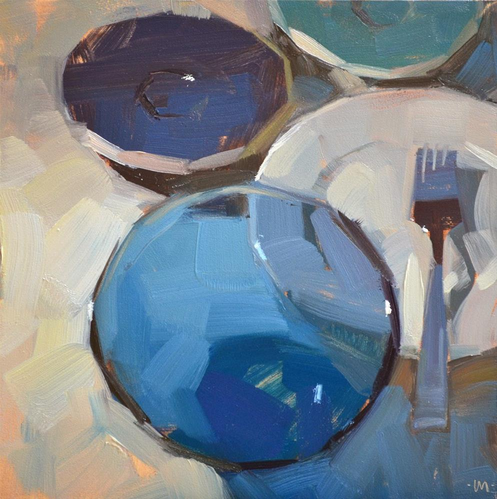 """Receding Dishes"" original fine art by Carol Marine"